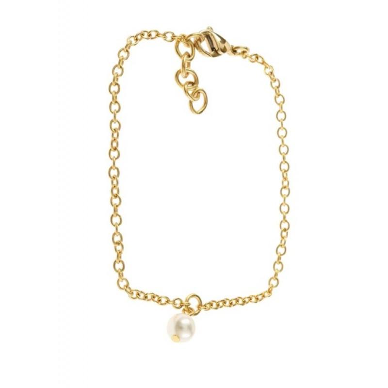 Náramok s perlou FIRETTI, zlatá farba
