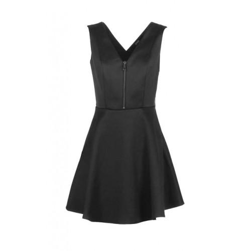 GUESS mini šaty so zipsom, čierna