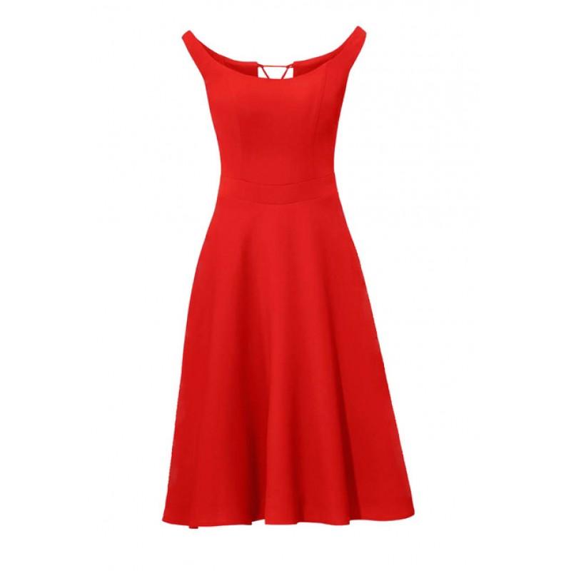 Korzetové červené šaty Ashley Brooke