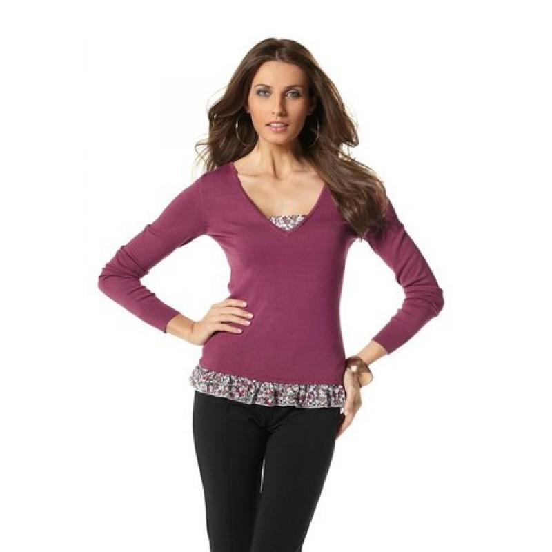 Dámsky sveter 2v1 Vivien Caron - ružová - 34