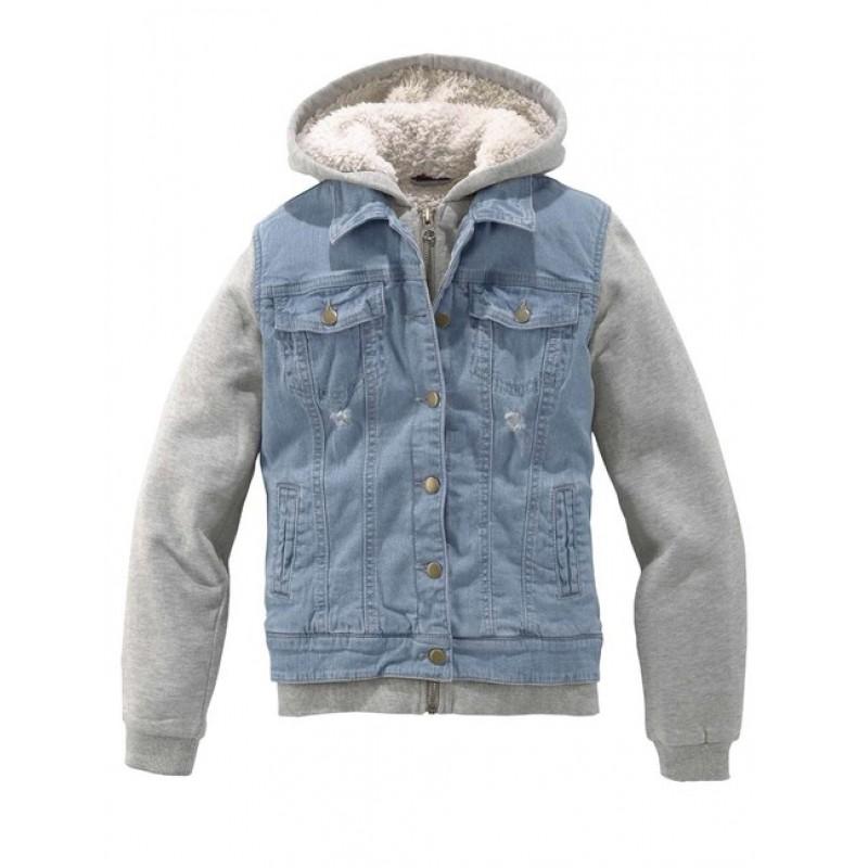 Buffalo detská bunda, sivo-modrá