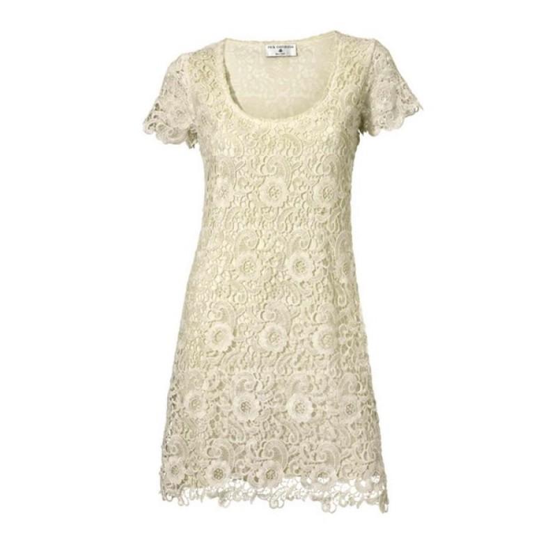 Čipkované romantické šaty Rick Cardona - krémová - 34