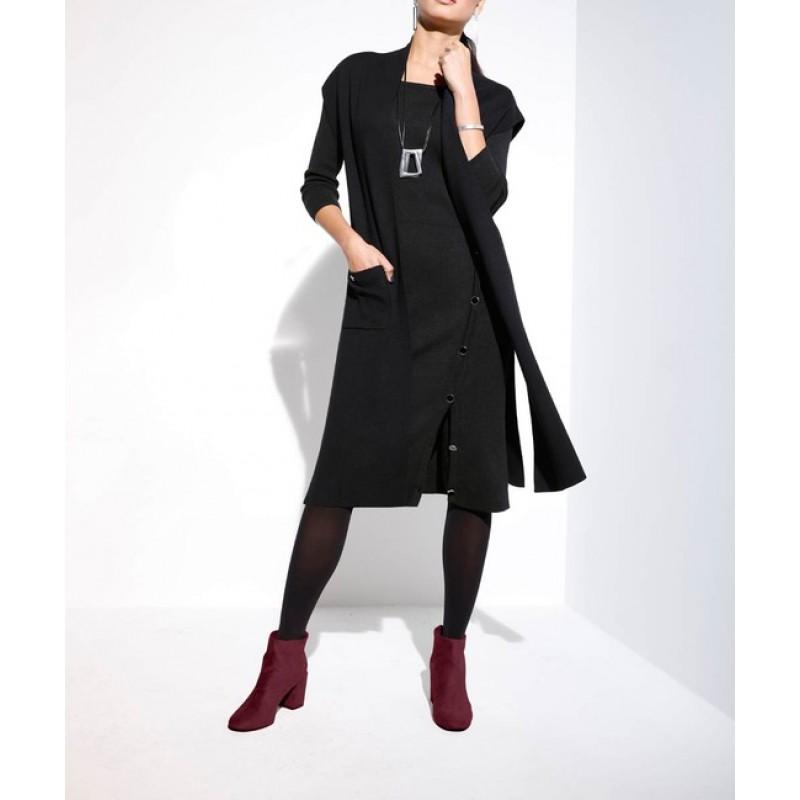 Dlhý sveter Création L, čierny