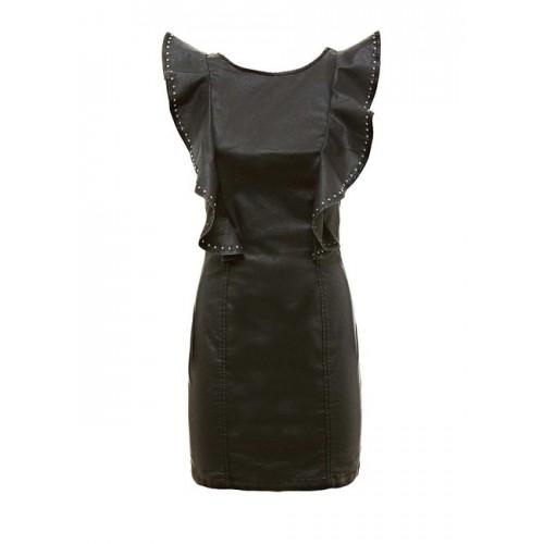 Šaty s nitmi GUESS, čierne