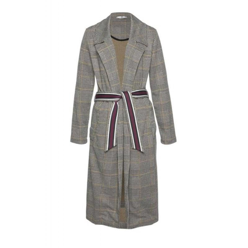 AJC karovaný džersejový kabát, viacfarebný