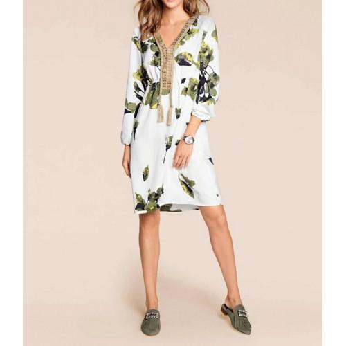Šaty s kvetinovou potlačou Rick Cardona, farebná