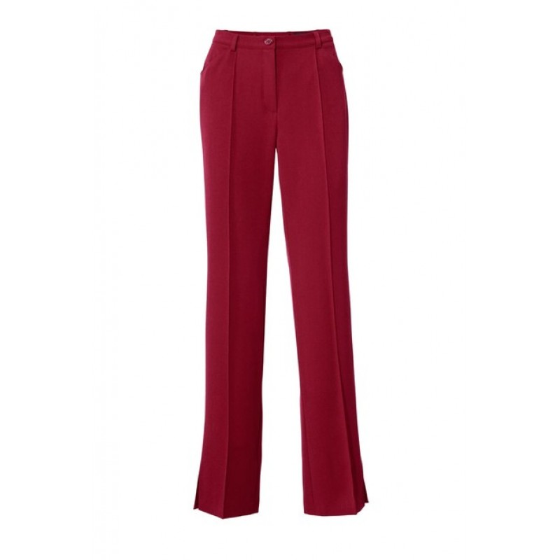 Elegantné nohavice Marlene, vínovo-červené
