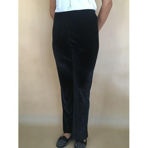 Zamatové pohodlné nohavice Sheego - čierna - 42
