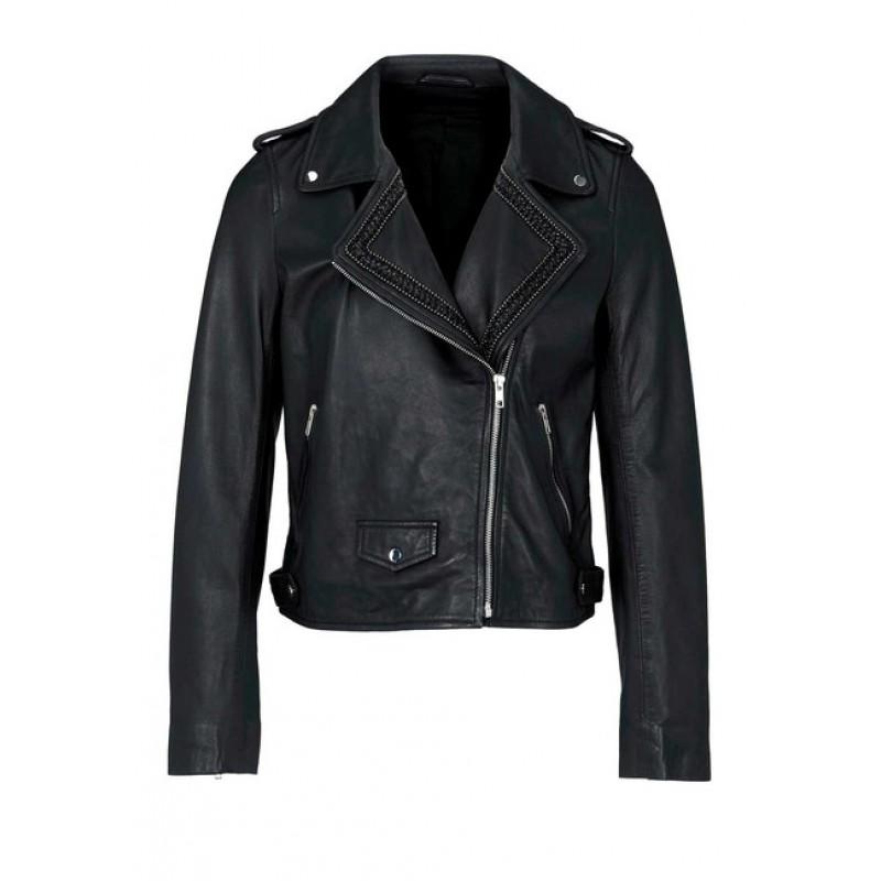 Kožená bunda HEINE, čierna