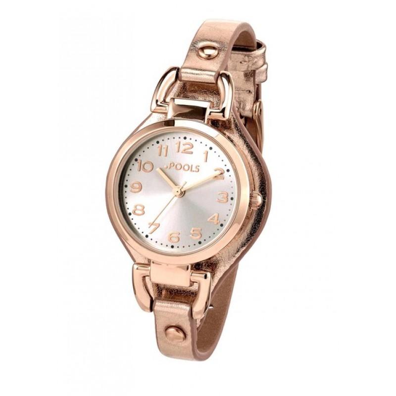 Náramkové hodinky POOLS , ružové zlato