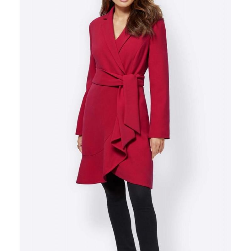 Création L kabát s volánom, červená