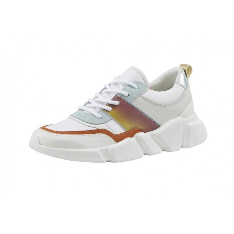 Kožené tenisky Heine, bielo-farebné