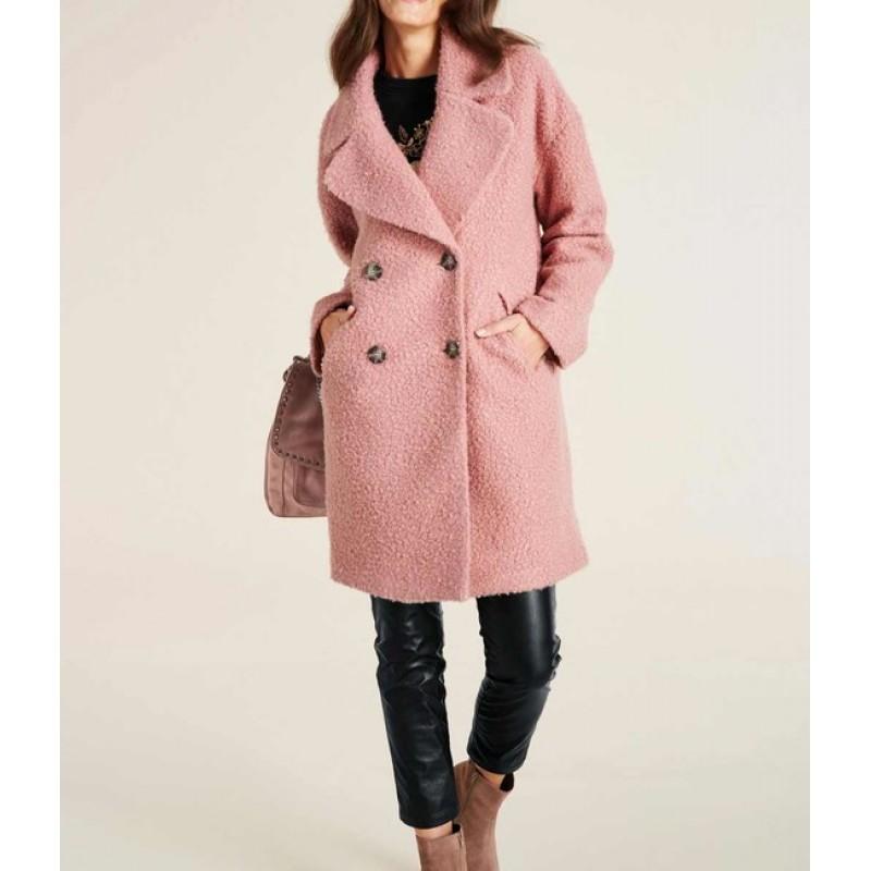 Buklé kabát Ashley Brooke, ružová