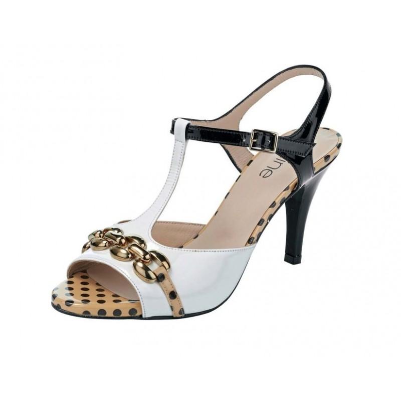 Extravagantné kožené sandálky Heine