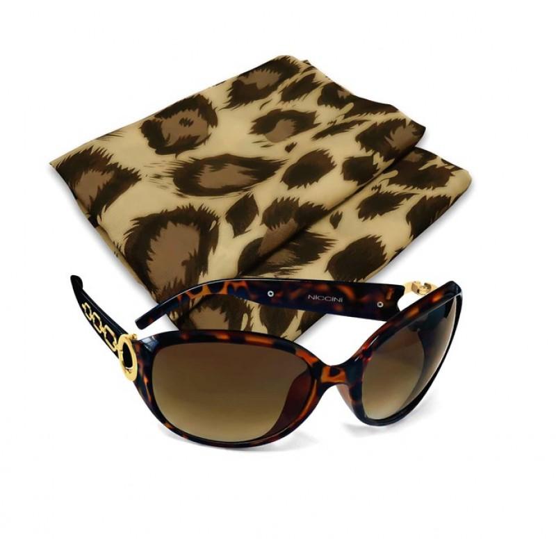 Slnečné okuliare Niccini + šatka, leo