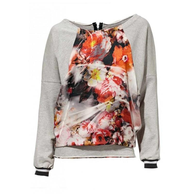 Farebné tričko s kvetmi Mandarin - 35
