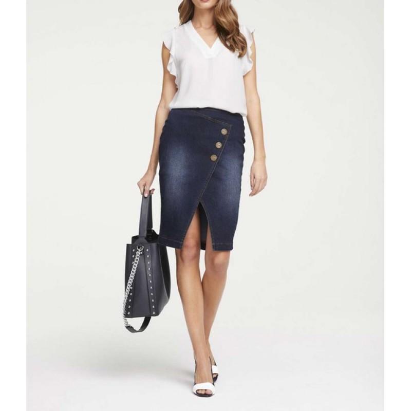 Džínsová sukňa Heine, tmavo modrá
