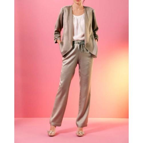 Nohavice s ľanom Création L Premium, béžová