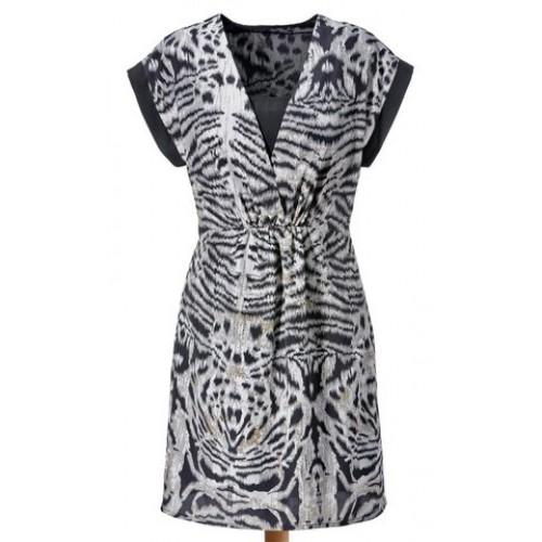Vzorované šaty Aniston - multikolor - 34