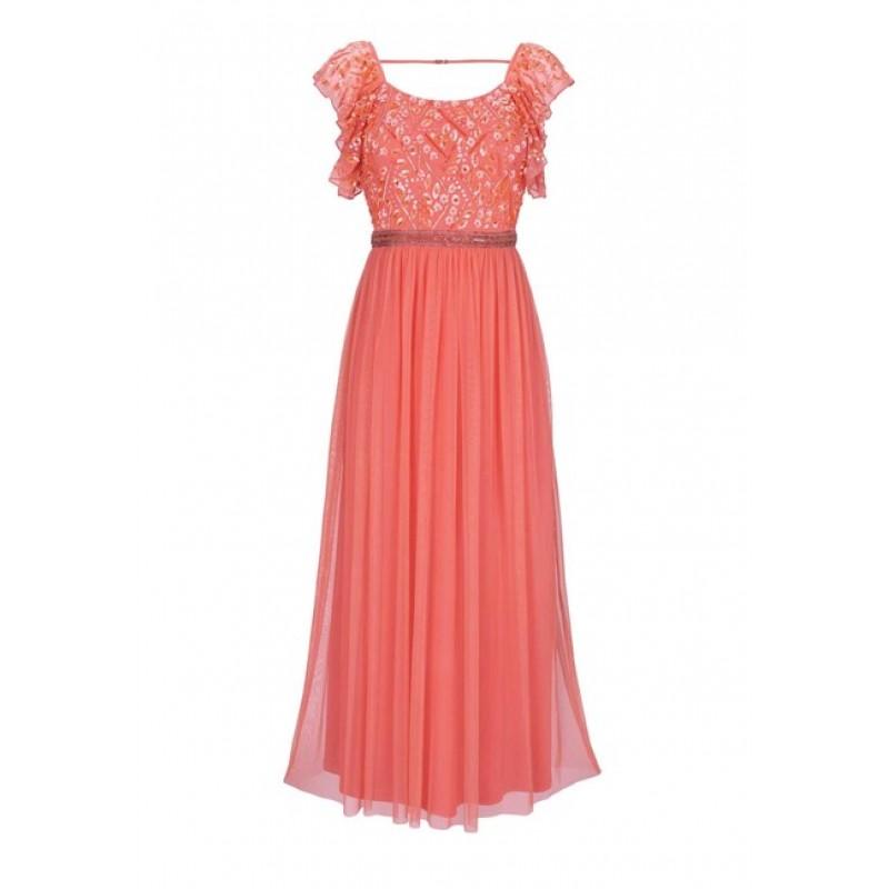 Spoločenské šaty Ashley Brooke, koralová