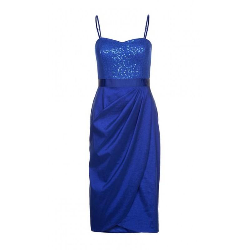Flitrované šaty APART, kráľovska modrá