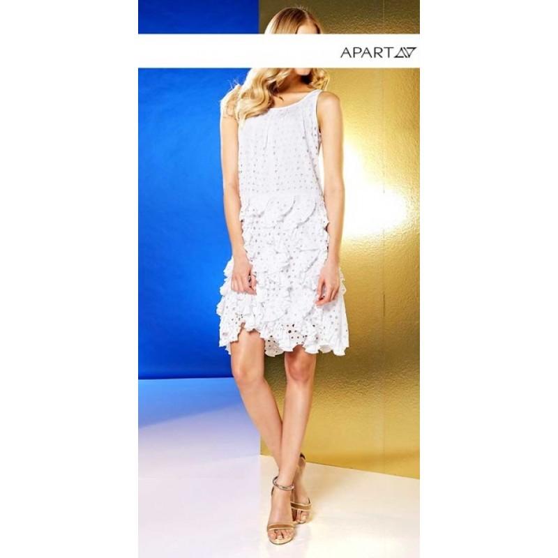 Letné biele šaty APART - biela - 34