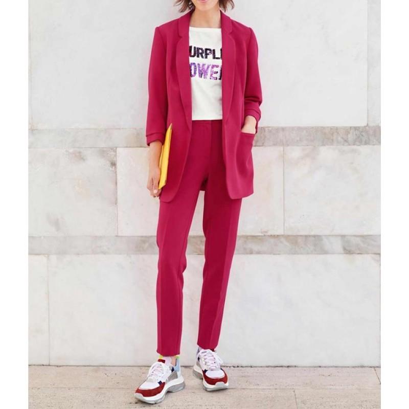 Nohavicový kostým Heine, červená