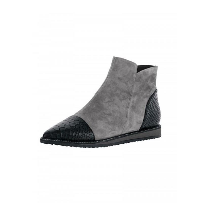 Extravagantné kožené topánky HEINE - sivá - 36