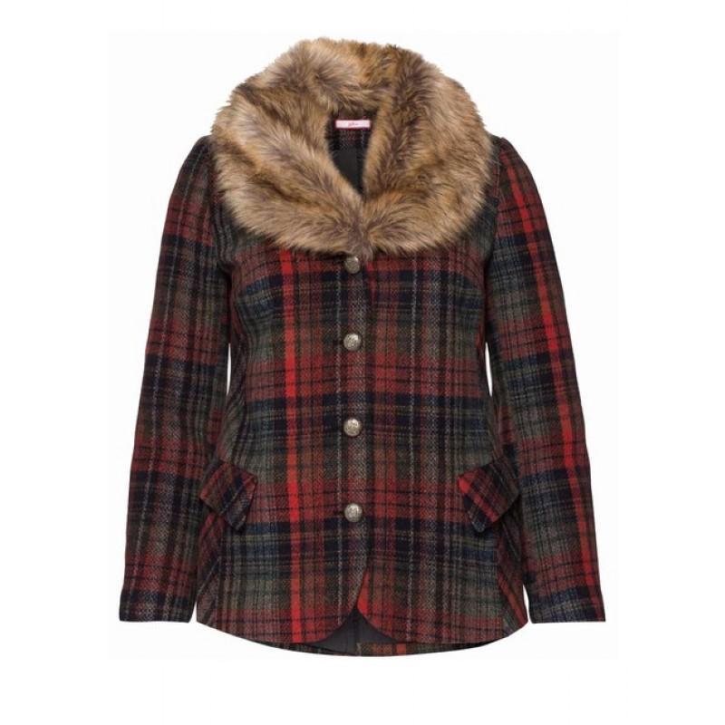 Joe Browns krátky kabátik s kožušinou, farebná