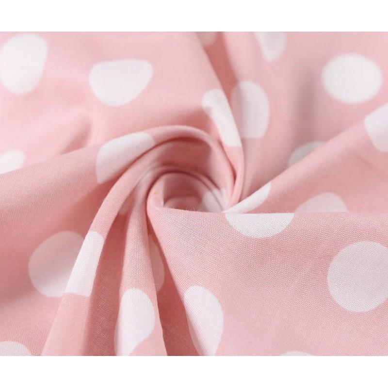 Bavlnená štvorcová kvetovaná šatka, ružovo-biela