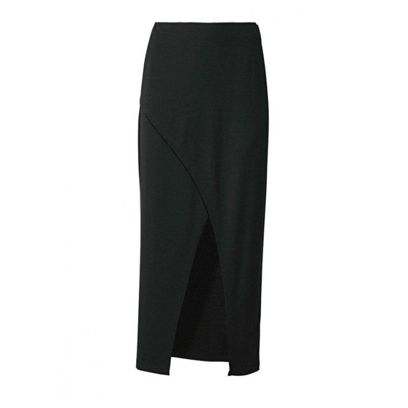 Džersejová sukňa Rick Cardona, čierna