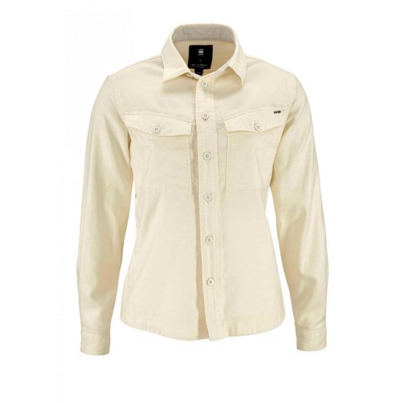 Džínsová košeľa G-STAR RAW, biela