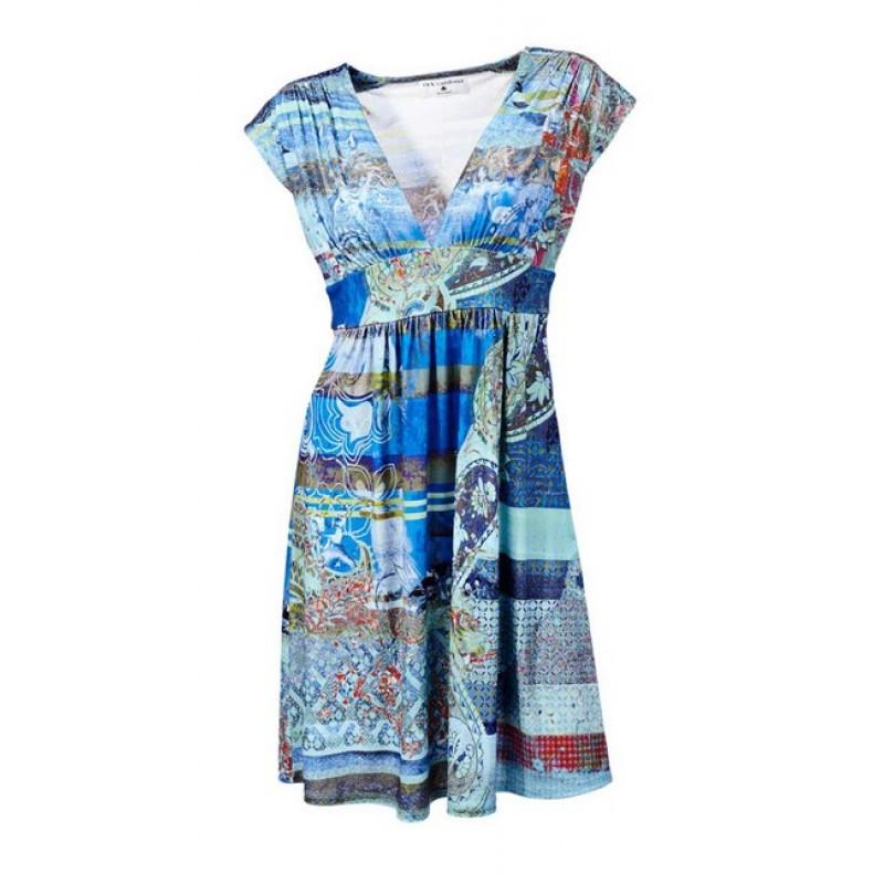 Príťažlivé farebné šaty Rick Cardona - multikolor - 34
