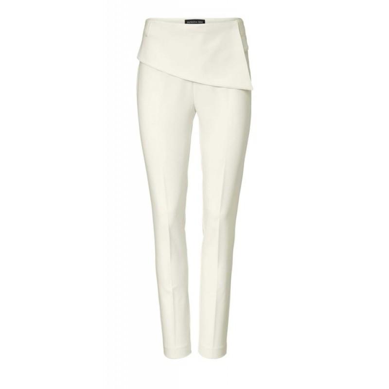 Krémovo-biele elegantné nohavice