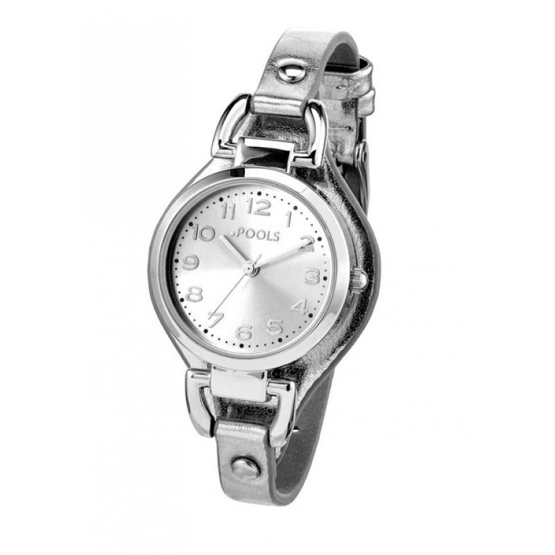 Náramkové hodinky POOLS , strieboná farba