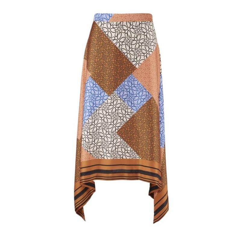 Asymetrická sukňa s farebnou potlačou Heine