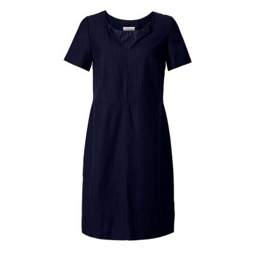 Elegantné šaty s prúžkom Sheego - modrá - 46
