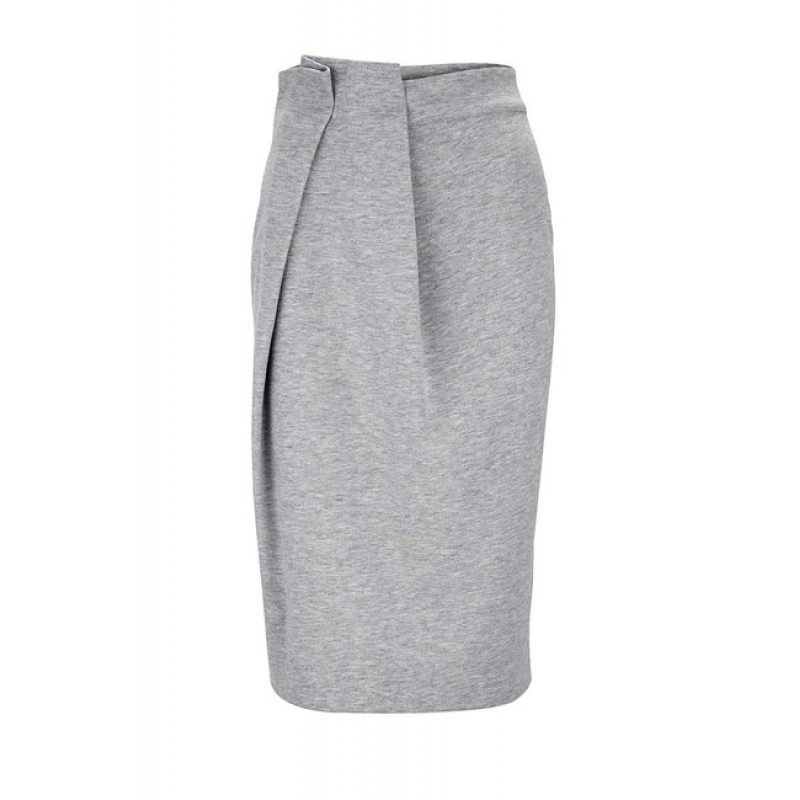 Džersejová sukňa Heine, sivá melanž