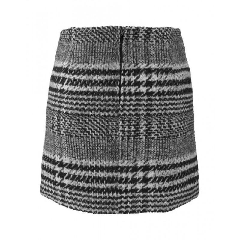 Káro sukňa čierno-biela, Aniston - čierno–biela - 38