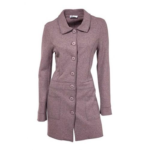 Vlnený kabát s golierom HEINE - fialová - 38