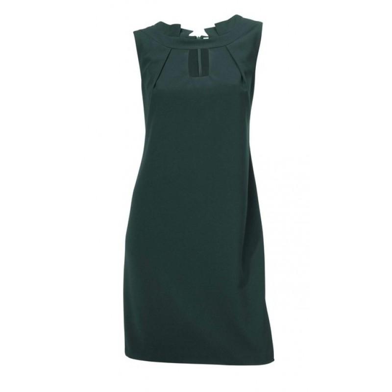Elegantné tmavo-zelené šaty - zelená - 34