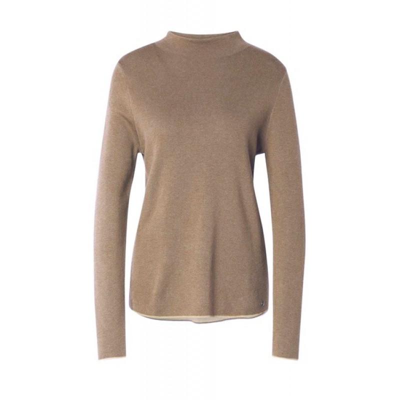 TOM TAILOR pulóver, béžová-melanž