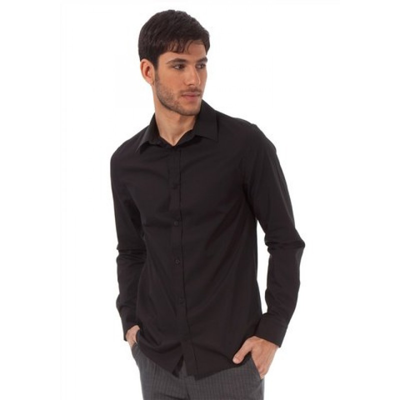 Pánska čierna košeľa