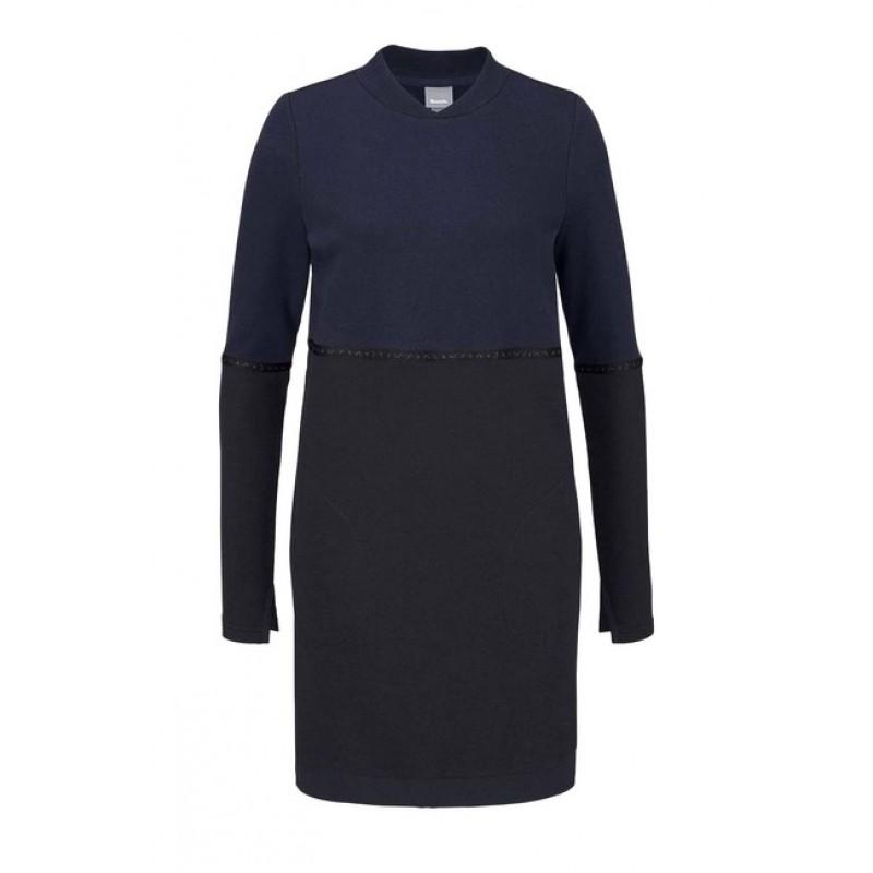 BENCH pleteninové šaty, tmavo-čierne