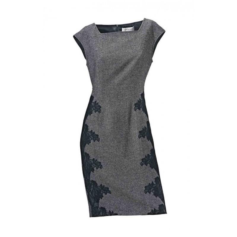 Púzdrové šaty S. Madan - čierno–biela - 34