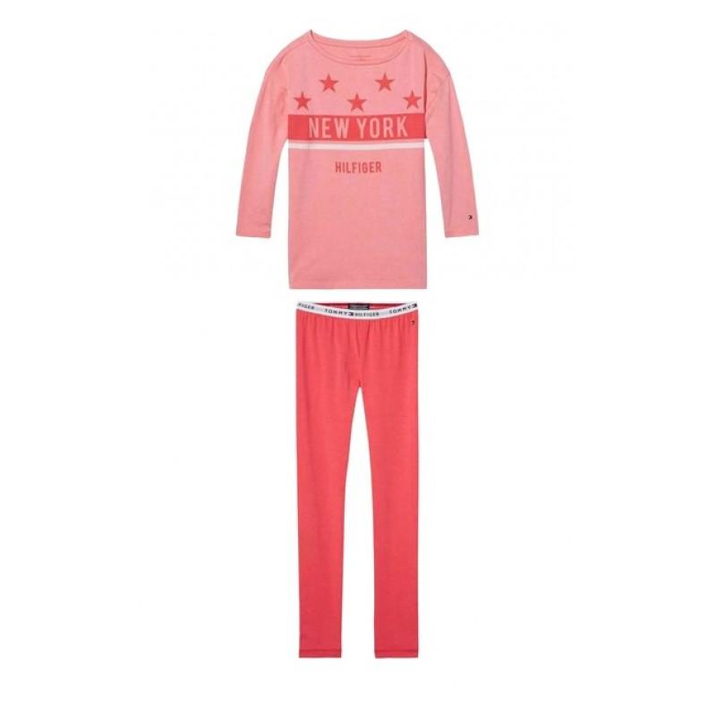 Dievčenské pyžamo TOMMY HILFIGER, ružová