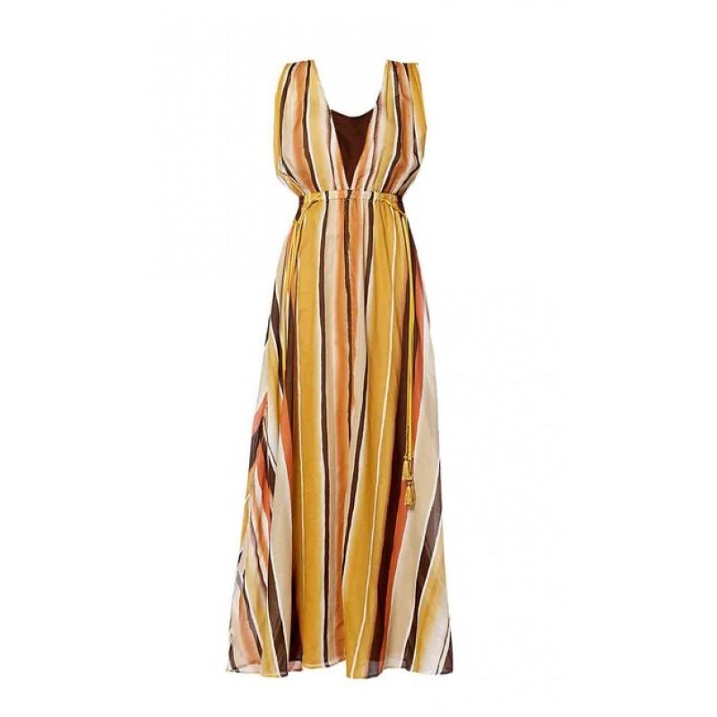 Maxi šaty APART, farby zeme