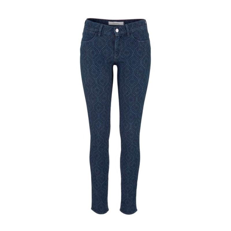 Úzke vzorované džínsy Wrangler - modrá - 26