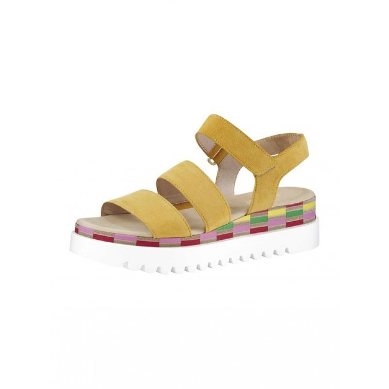 GABOR semišové sandále, žlté