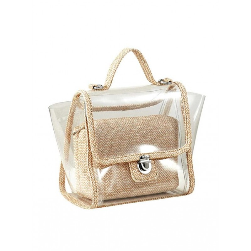 Dou transparentná kabelka HEINE, béžová